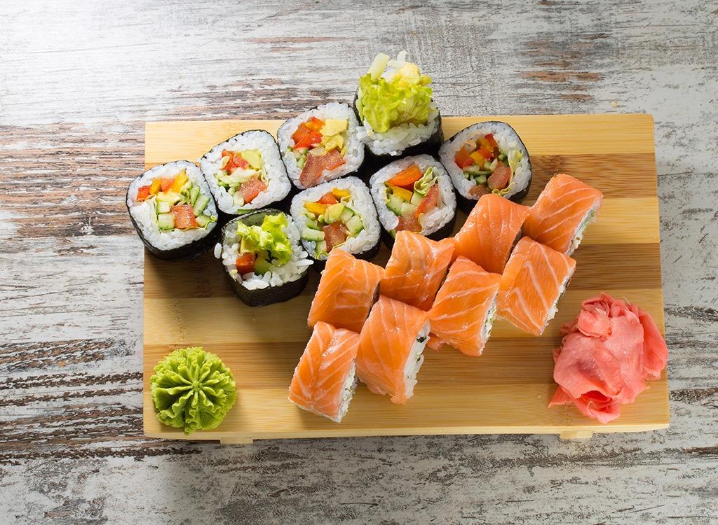 weight loss green tea sushi