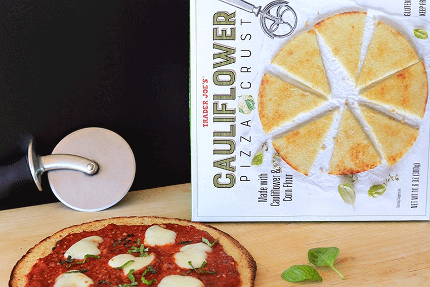 trader joes cauliflower pizza crust