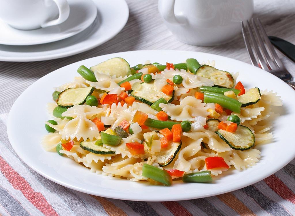 Pasta on big plate