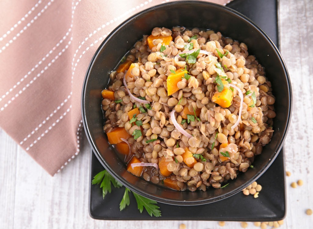 Lentils in bowl - best foods for gut health
