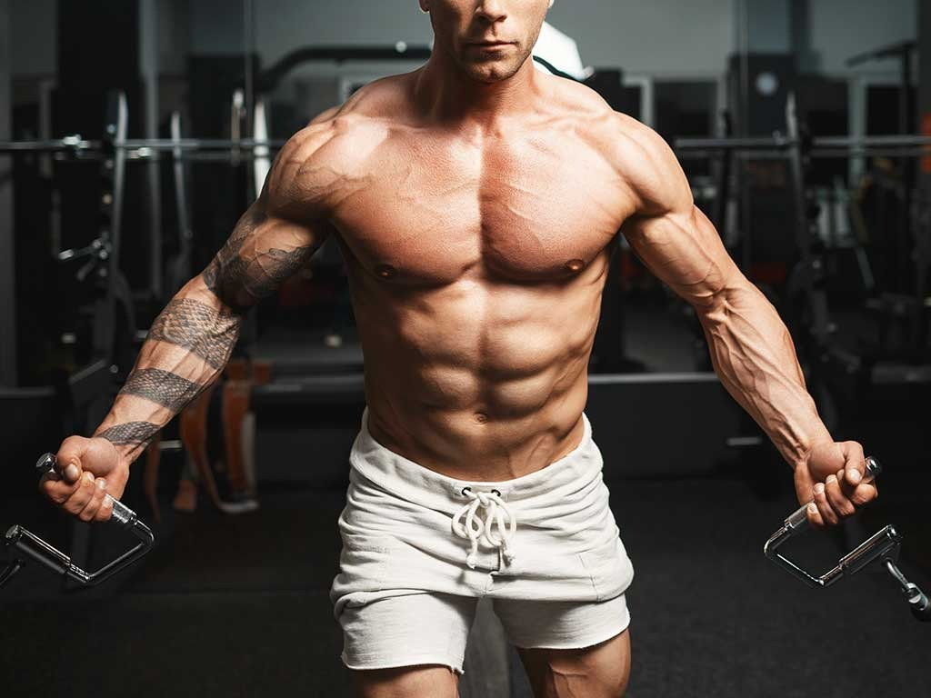 working out muscles bodybuilding man