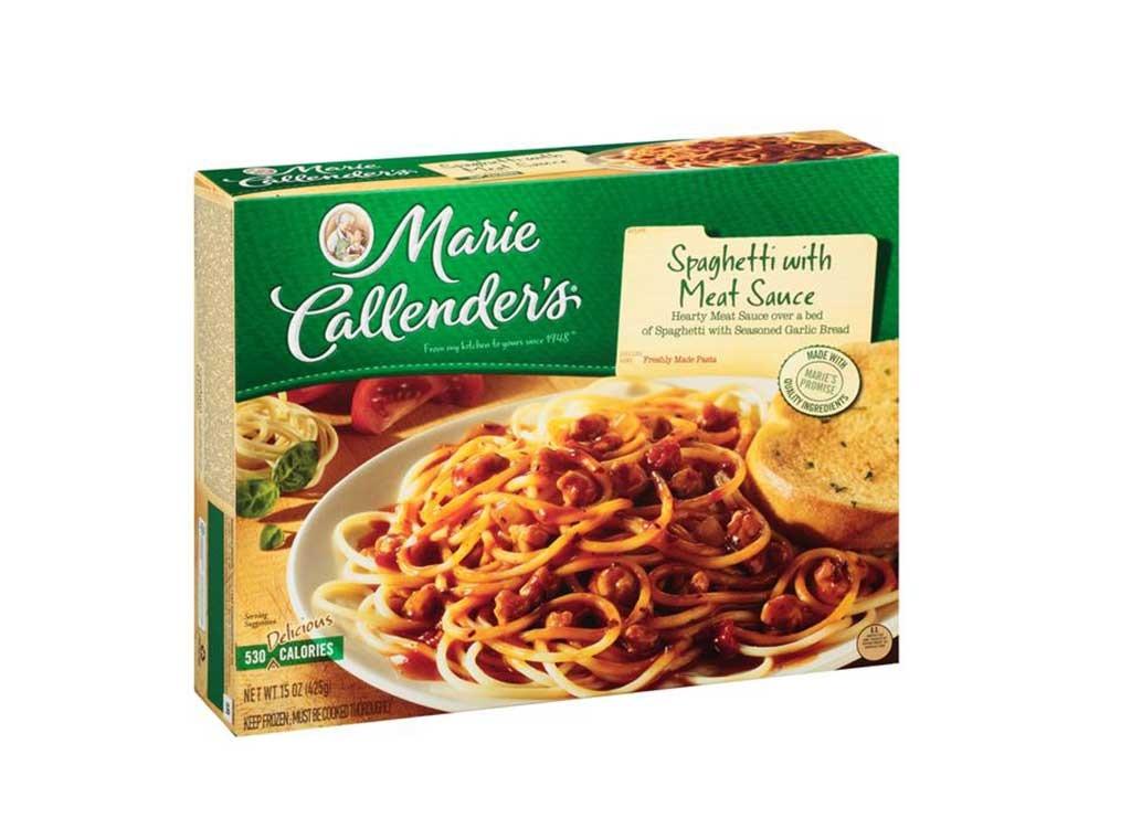 Marie Callender spaghetti