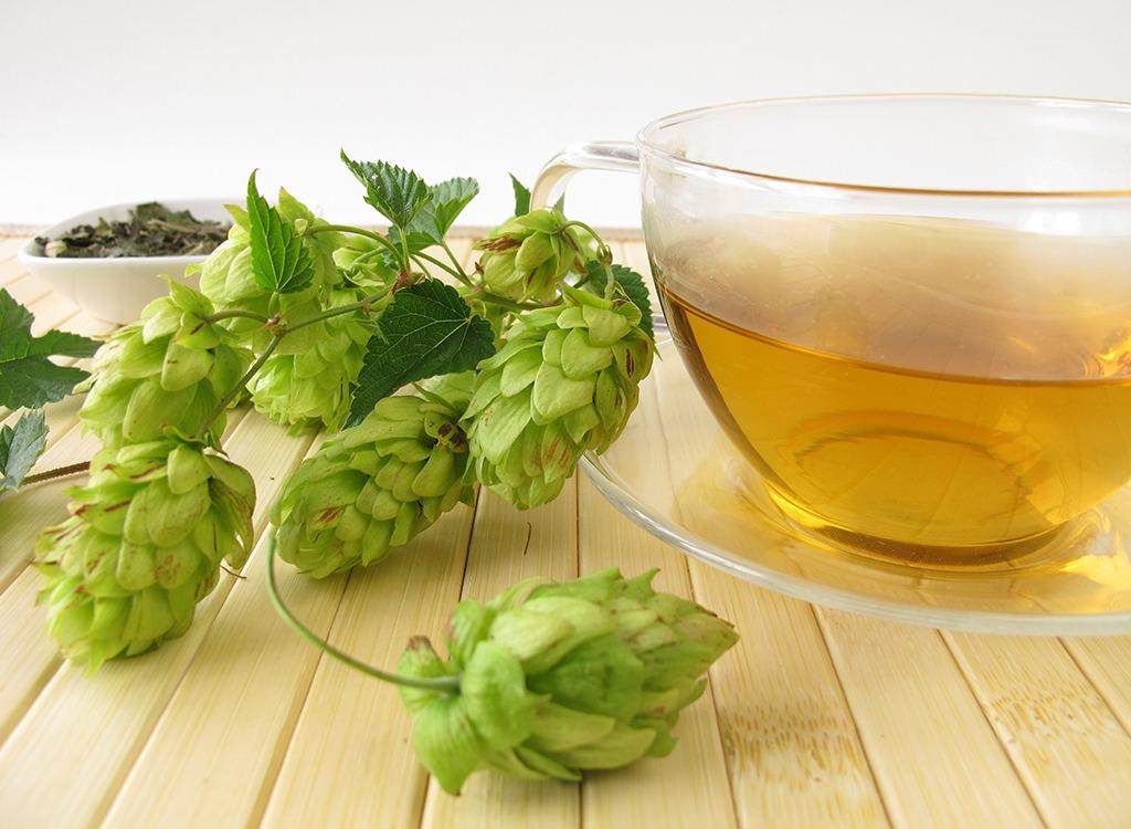 best teas for weight loss - hops tea