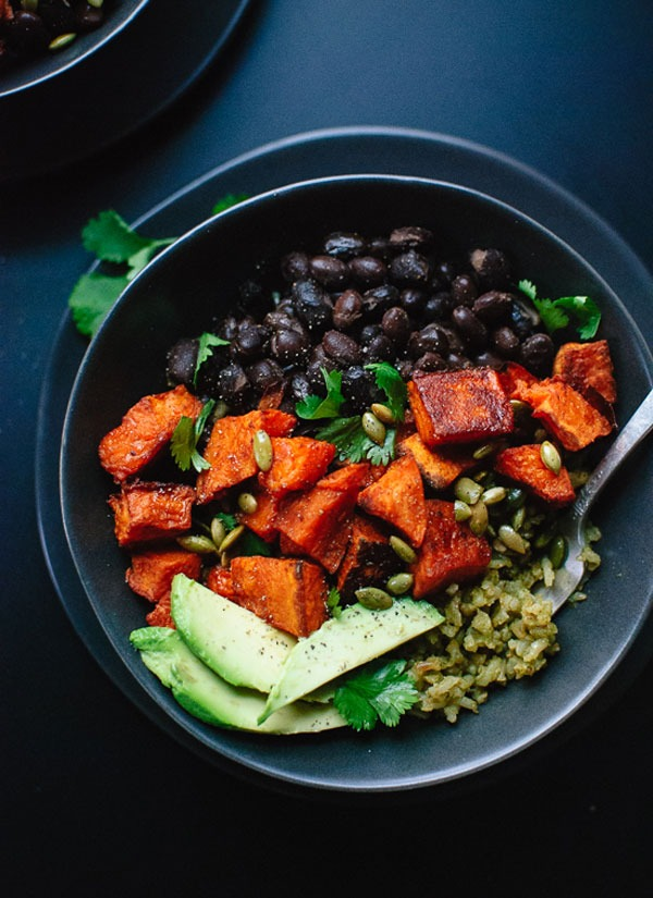 Bowl roundup Spicy Sweet Potato and Green Rice Burrito Bowls