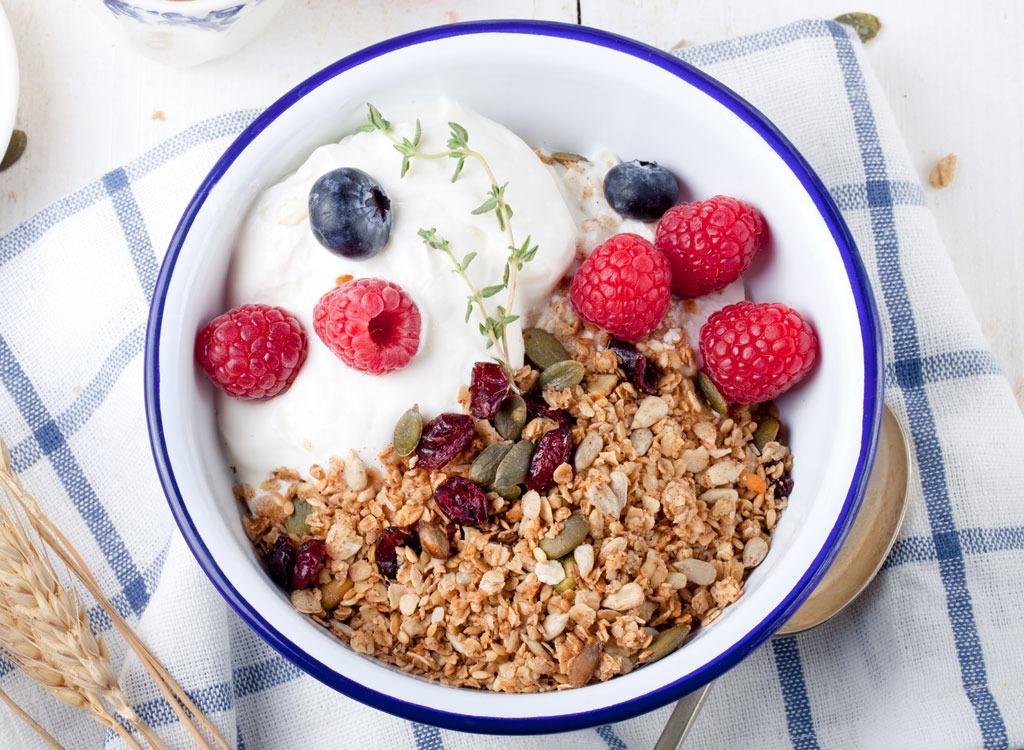Yogurt berries nuts seeds