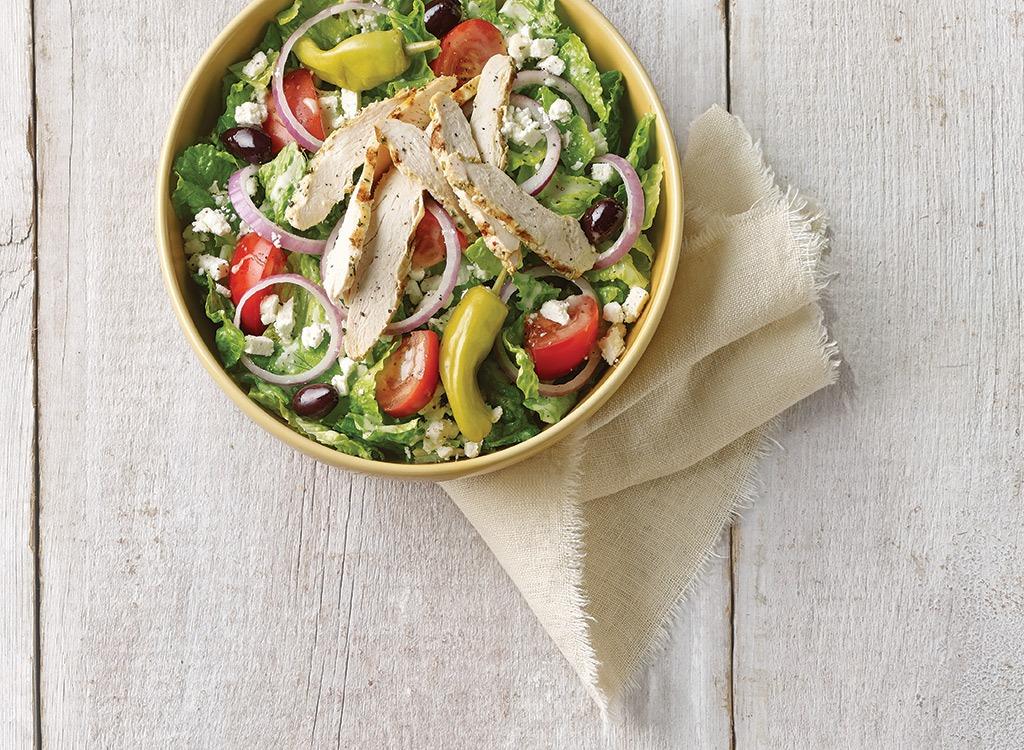 panera greek salad with chicken