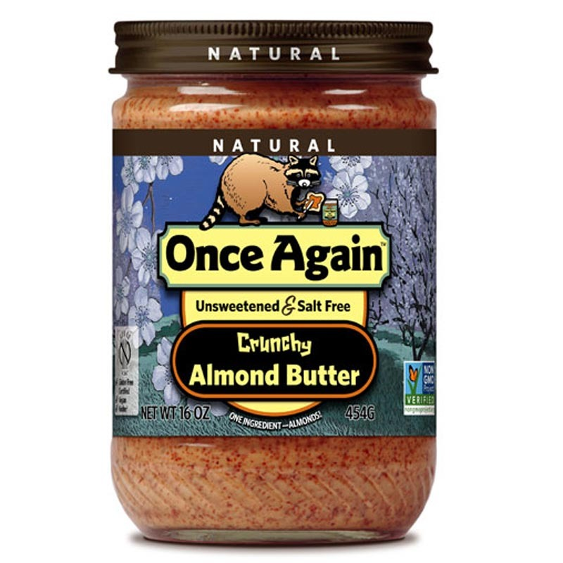 once again natural crunchy almond butter