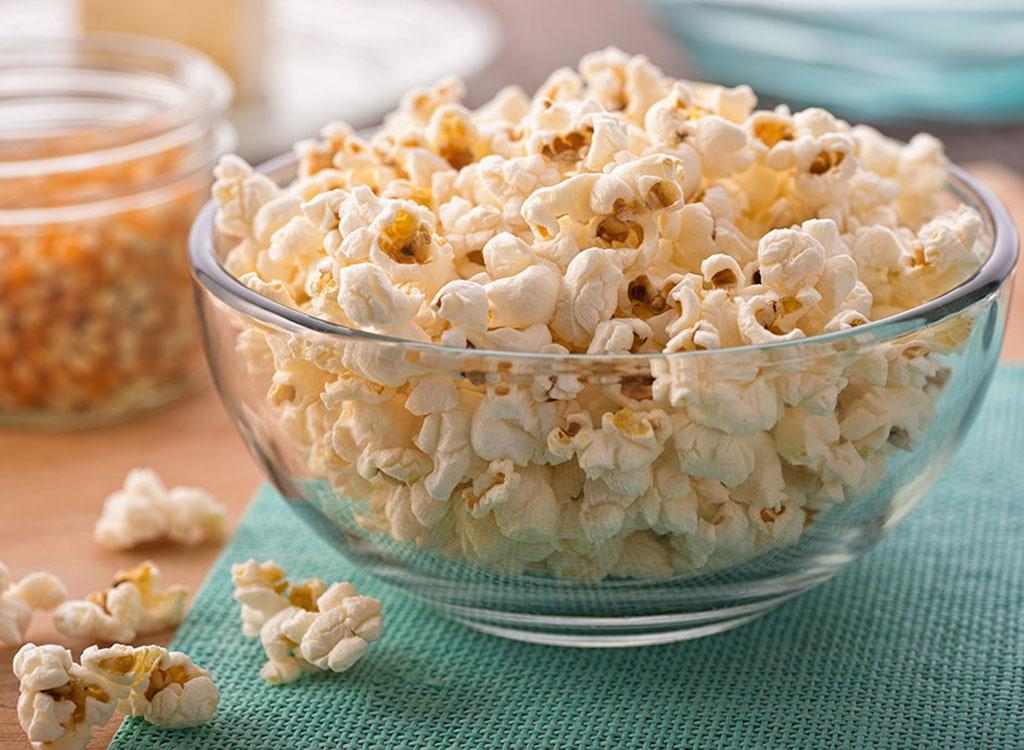 Popcorn bowl - foods that make you poop