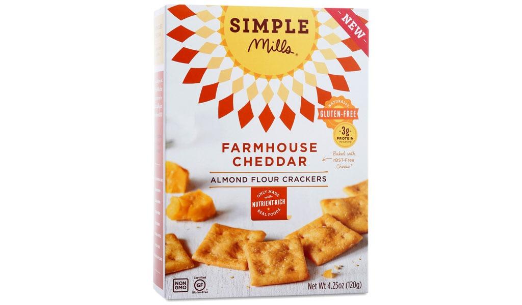 simple mills farmhouse cheddar crackers
