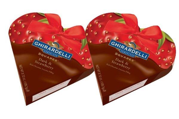 Valentines Candy Ranked Ghirardelli Squares Dark Strawberry
