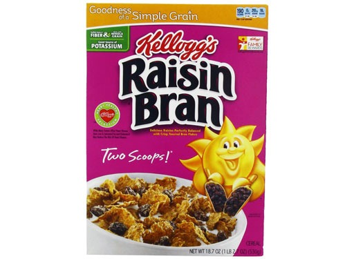 raisin bran two scoops