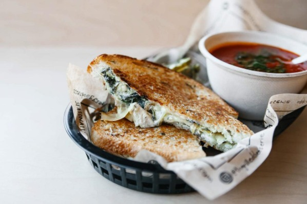 Spinach and Artichoke at The Grilled Cheeserie