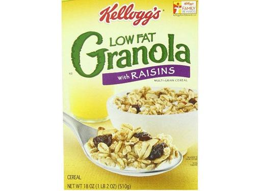 kellogg's low fat granola with raisins