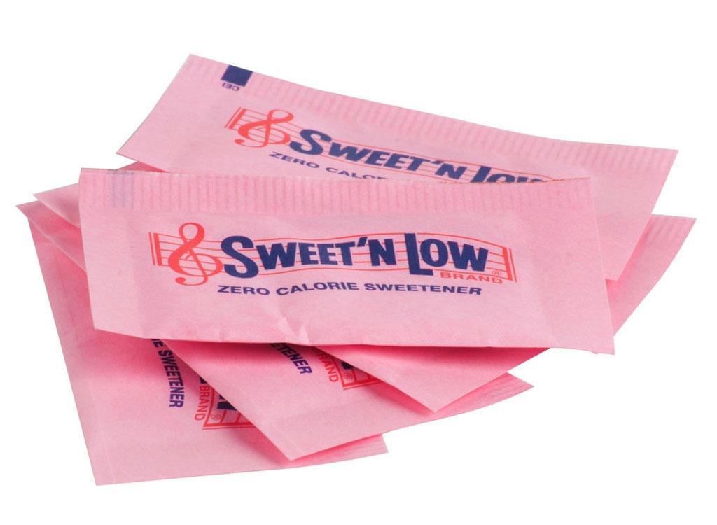 Sweeteners ranked saccharin