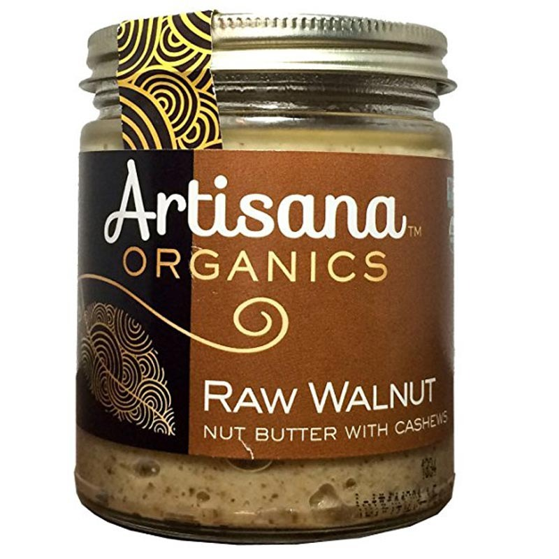 artisana 100% organic raw walnut butter with cashews