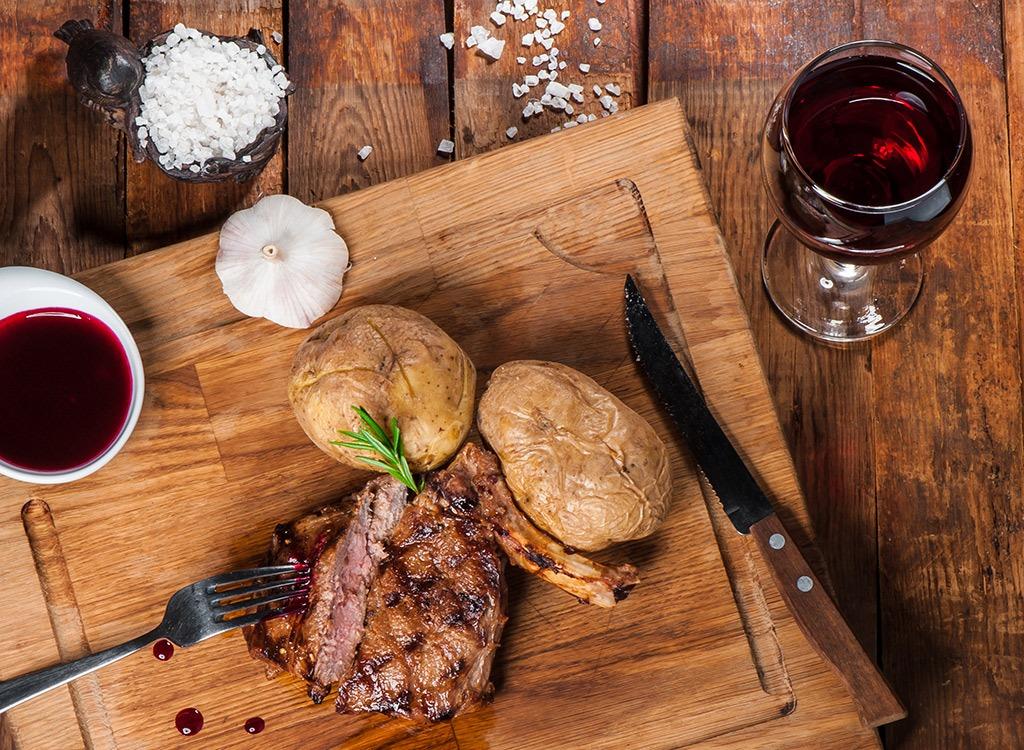steak potato dinner