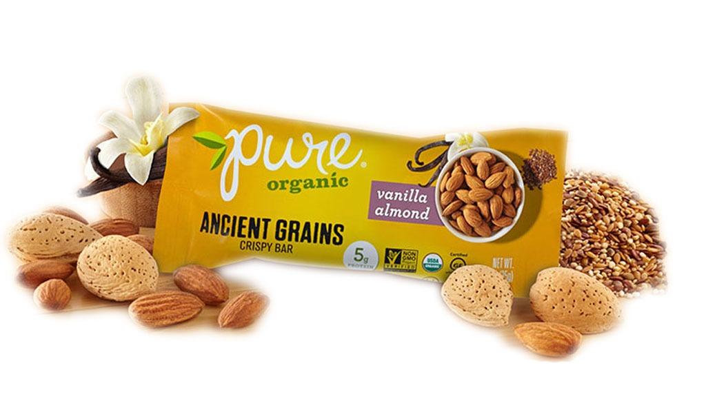 pure organic ancient grains vanilla almond bar