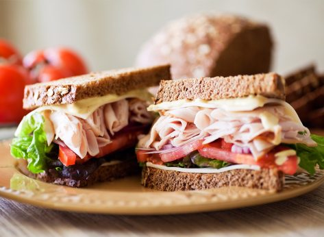 Turkey deli-style sandwich