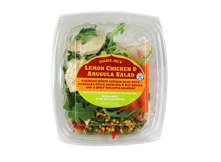 trader joes chicken arugula salad