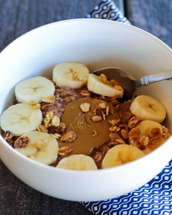 chocolate protein sun butter overnight oats