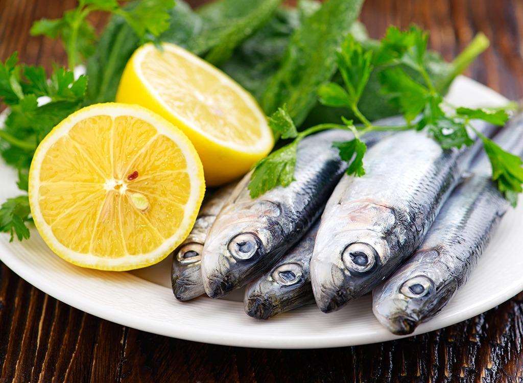 Sardines lemon herbs