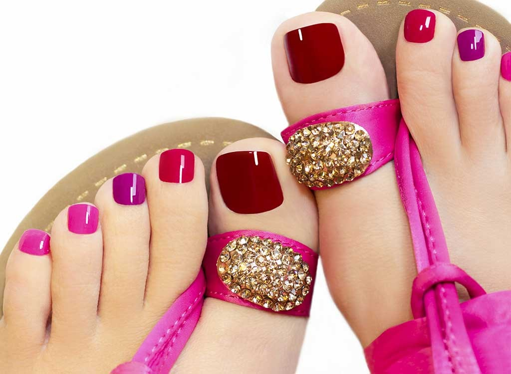 manicured toes