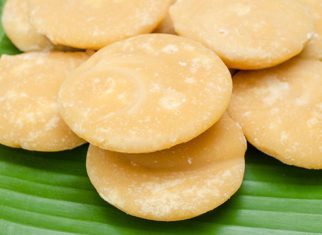 Sweeteners ranked palm sugar