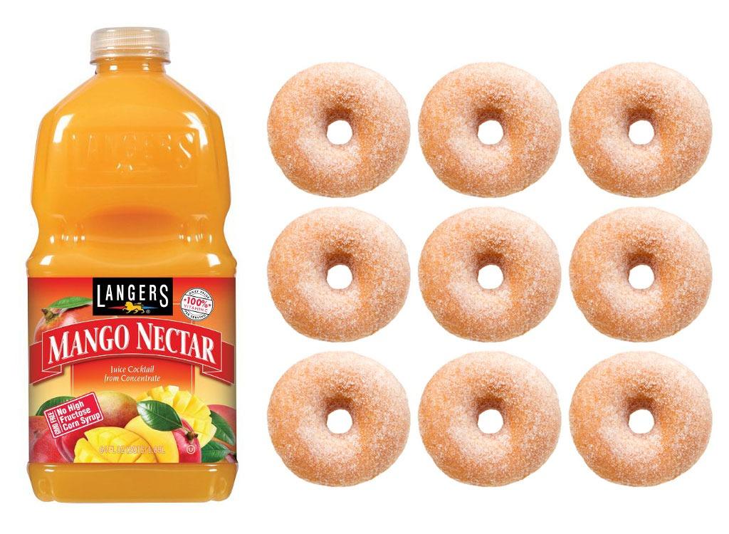 Foods worse than donut fruit juice