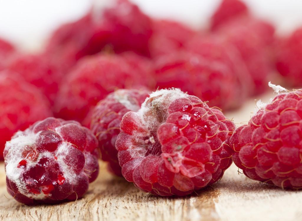 Moldy raspberries