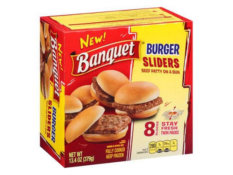 Untrustworthy foods frozen burgers
