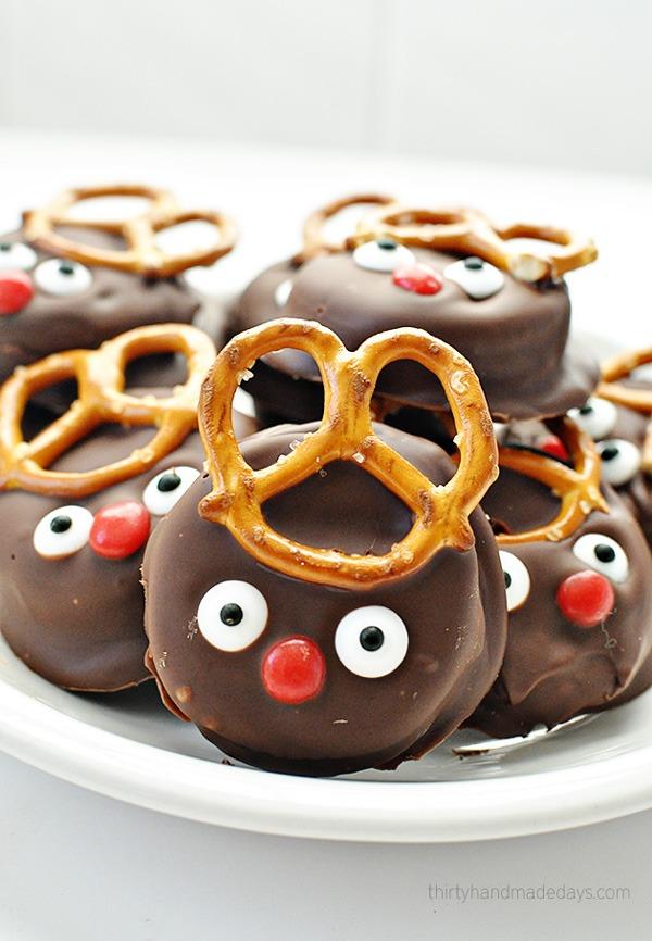 Holiday desserts reindeer cookies