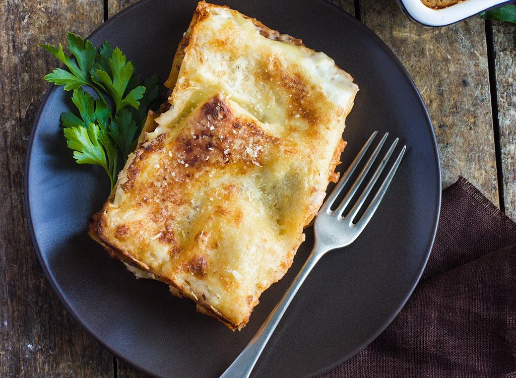 turkey green lentil lasagna