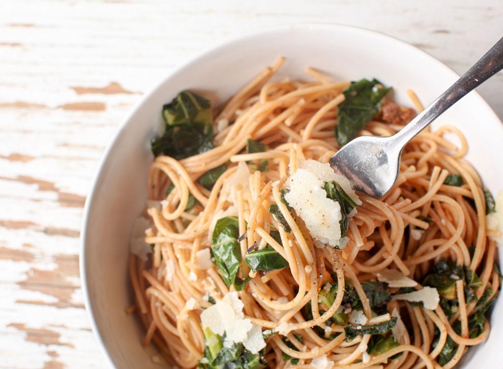 chickpea pasta salad kale