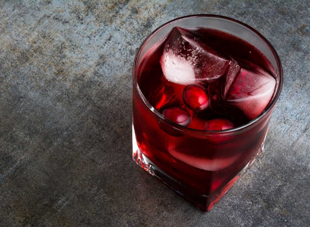 Food for women cranberry juice