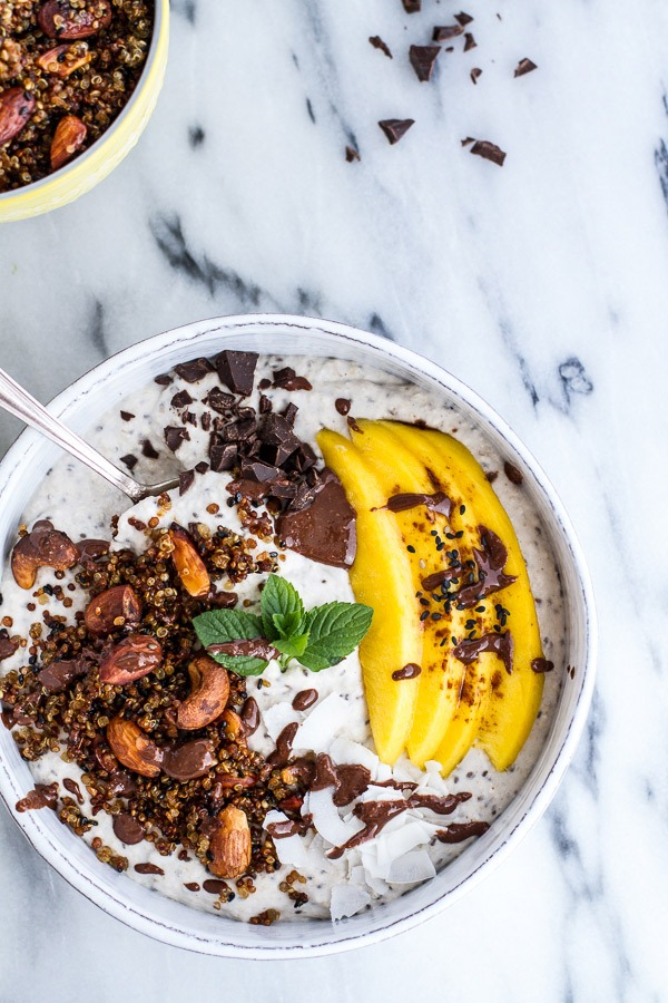 coconut oats smoothie bowl
