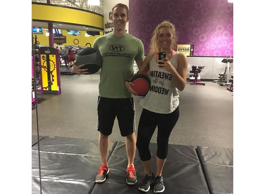 Haley J. Smith and workout buddy
