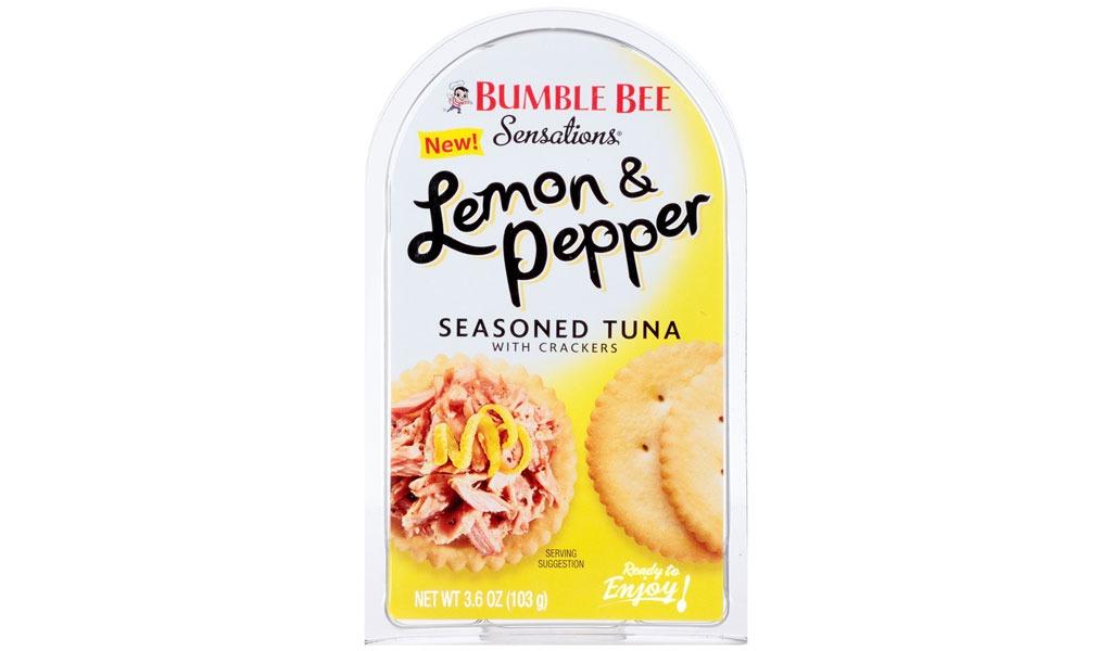 bumble bee lemon and pepper seasoned tuna