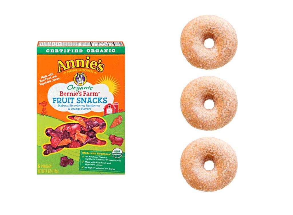 Foods worse than donut gummy snack