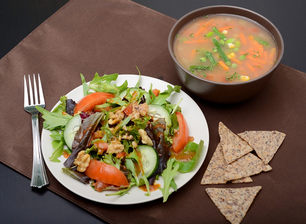 soup salad chips combo meal