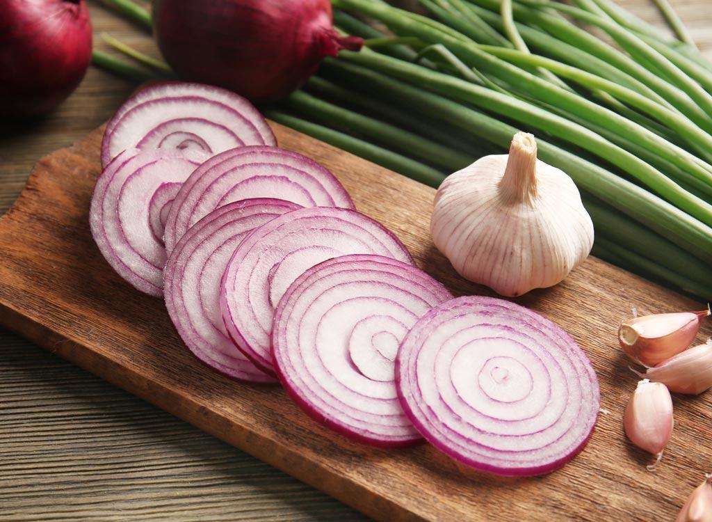 onions garlic