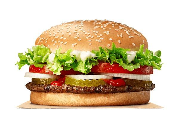 Fast food burgers ranked Whopper