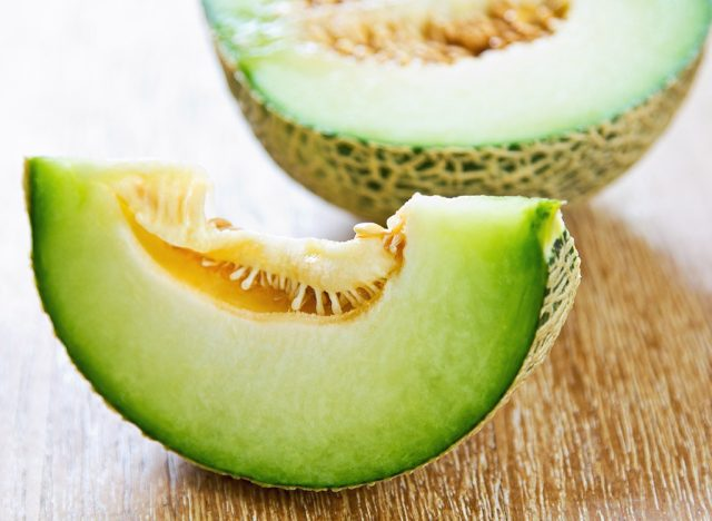 Sugary fruits ranked honeydew