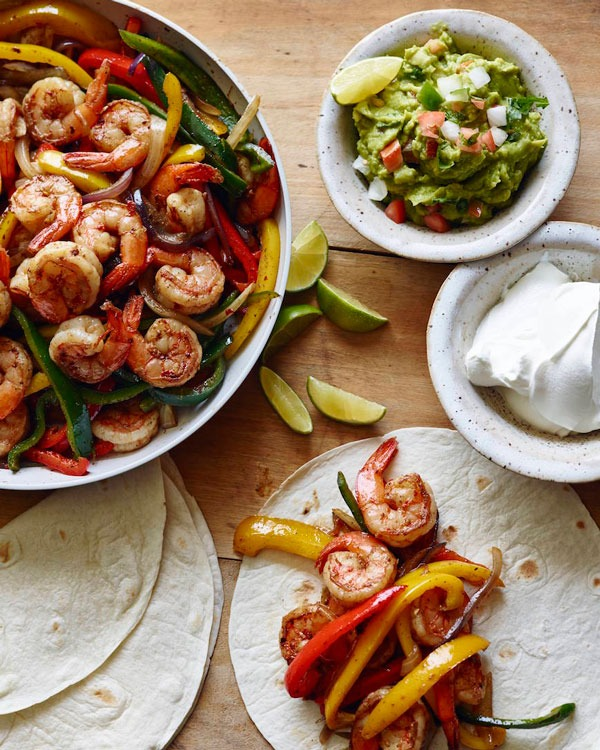 Shrimp recipes Shrimp Fajitas