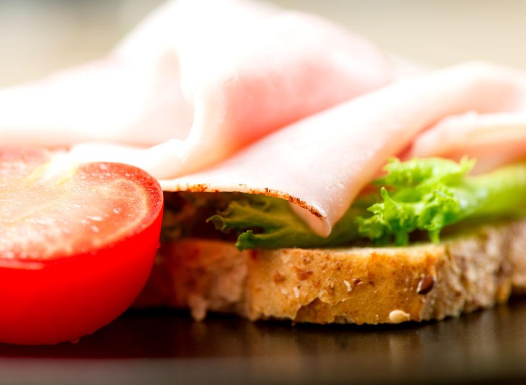 Open face turkey sandwich