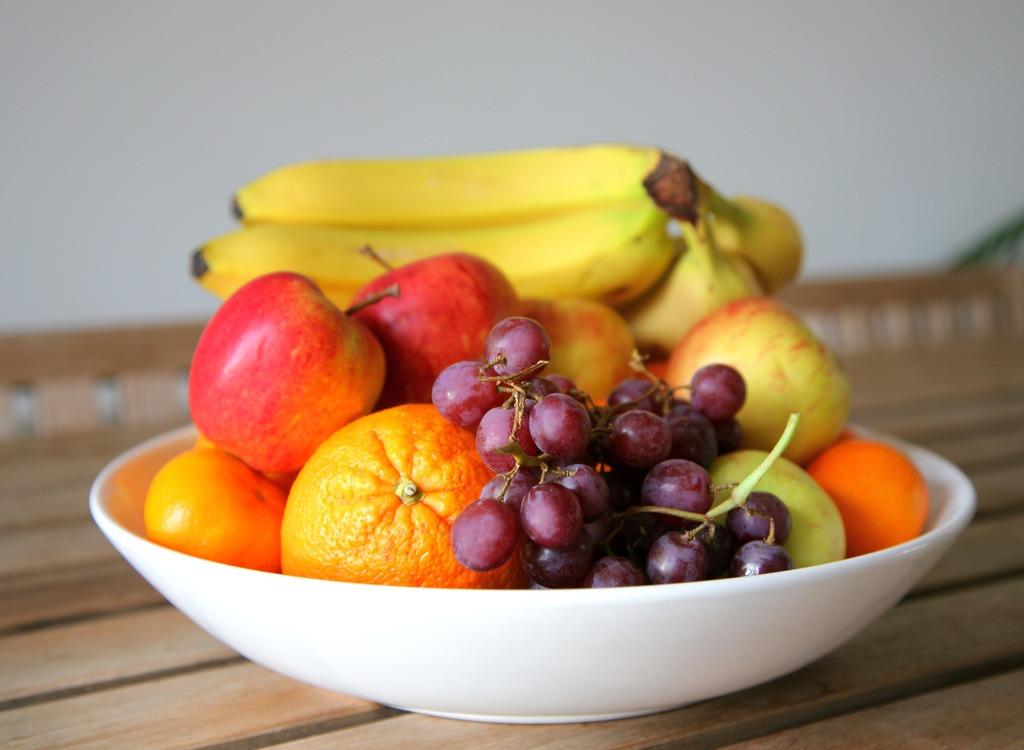 bowl of fruit countertop