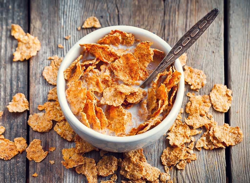 Cereal flakes in a bowl - foods that make you poop