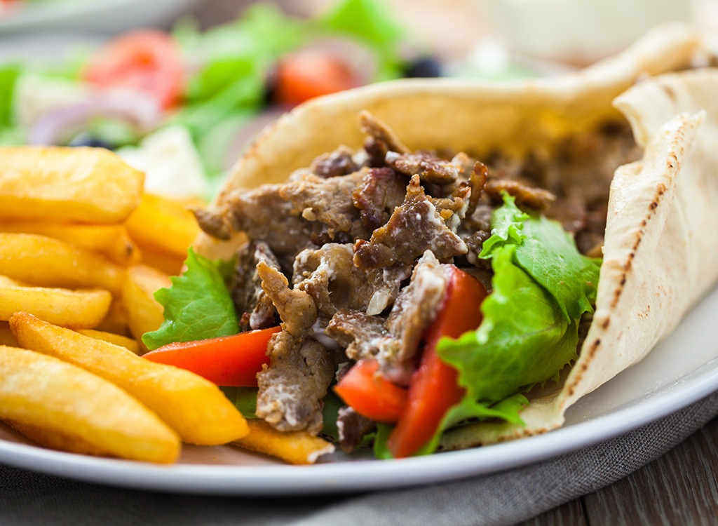 worst middle eastern food - gyro and laffa