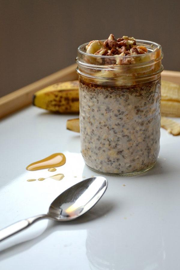 overnight oatmeal recipe maple peanut butter