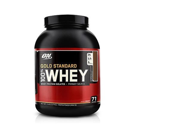 optimum nutrition chocolate whey protein powder