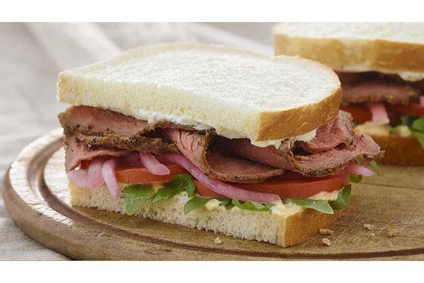panera steak arugula sandwich